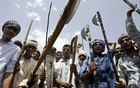 File Photo: Protestors from the Gujjar community shout slogans in Sikandra in Rajasthan June 2, 2007. Reuters