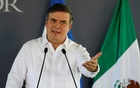 Mexico's Foreign Minister Marcelo Ebrard speaks during a ceremony as part of the new migration plan