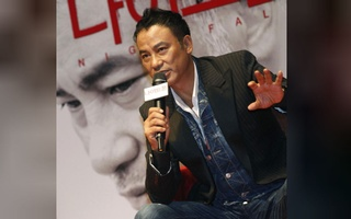 FILE PHOTO: Hong Kong actor Simon Yam speaks during a news conference to promote his movie