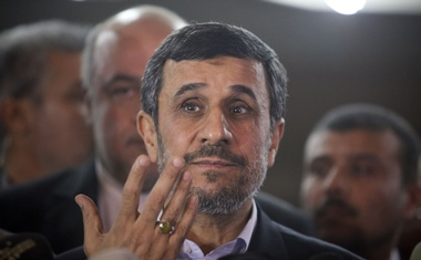 FILE-- Then President Mahmoud Ahmadinejad of Iran during a news conference in Cairo, Feb 5, 2013. Now in 2019, there is a surprising split among Iranian hard-liners, some are expressing a different opinion: It's time to sit down and resolve 40 years of animosity with the US, by talking directly to President Donald Trump. And the most striking voice in that contrarian group is Ahmadinejad. (Tara Todras-Whitehill/The New York Times