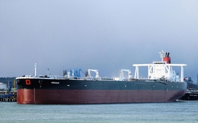 Undated photograph shows the Mesdar, a British-operated oil tanker in Fawley. REUTERS