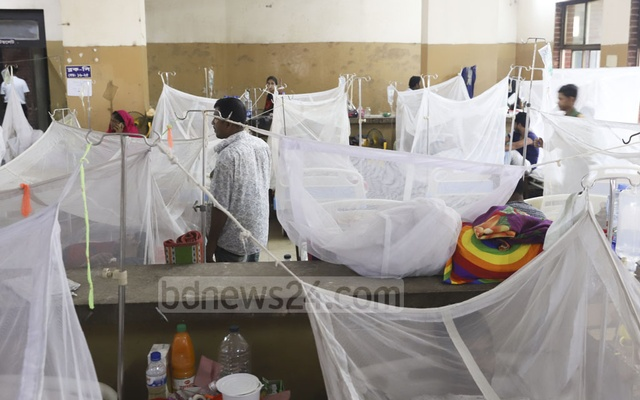 Mosquito nets have been arranged for every dengue patient at a special ward recently opened at the Shaheed Suhrawardy Hospital in Dhaka.