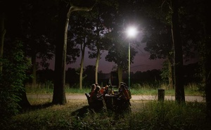 A group of children participate in a Dutch tradition known as