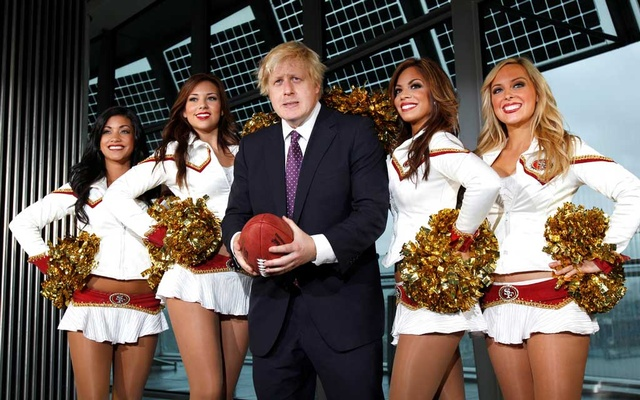 FILE PHOTO: American Football - Mayor of London Boris Johnson meets San Francisco 49ers Players & Cheerleaders - City Hall, London. Reuters