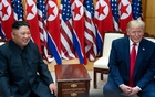 President Donald Trump and Kim Jong Un, the North Korean leader, hold a bilateral meeting at the Freedom House on the South Korean side of the truce village of Panmunjom, June 30, 2019. The New York Times
