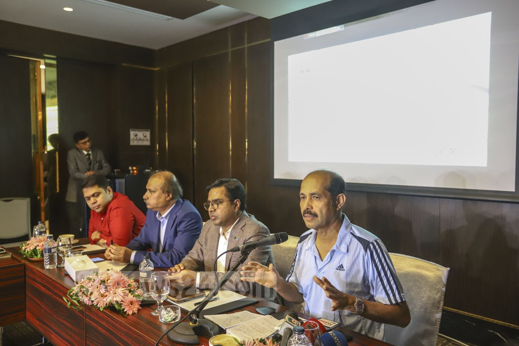 Dhaka North City Corporation Mayor Atiqul Islam speaking at a discussion session on the measures to prevent mosquito-borne dengue virus, organised by the Association of Television Channel Owners (ATCO) at the capital's InterContinental hotel on Thursday. Photo: Asif Mahmud Ove