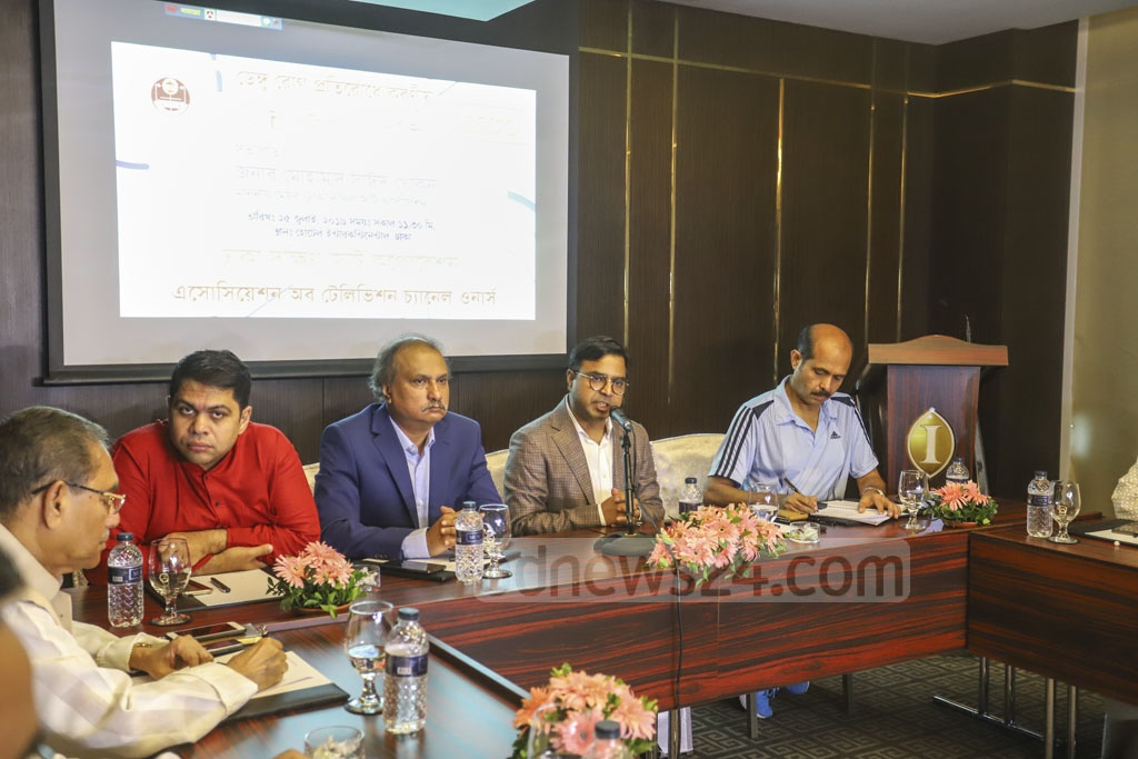 Dhaka South City Corporation Mayor Md Sayeed Khokon speaking at a discussion session on the measures to prevent mosquito-borne dengue virus, organised by the Association of Television Channel Owners (ATCO) at the capital's InterContinental hotel on Thursday. Photo: Asif Mahmud Ove