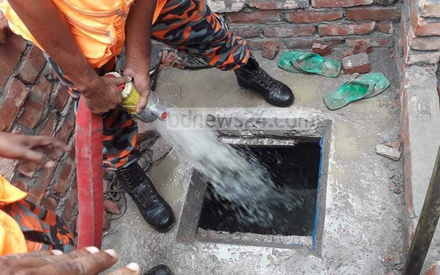Five workers die from toxic gas from septic tank in