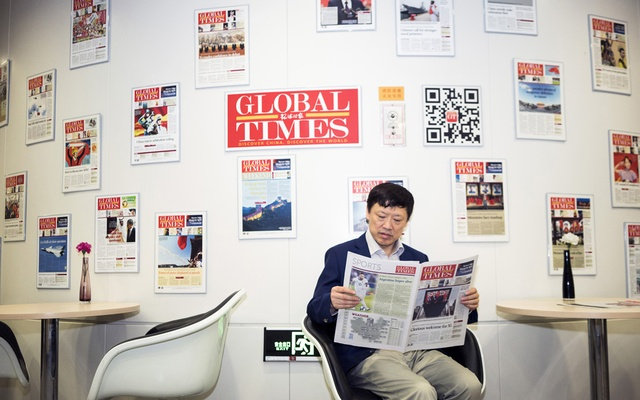 Hu Xijin, editor in chief of the Global Times, sits for a photo at the nationalist tabloid's offices in Beijing, Jun 21, 2019. Xijin, who 30 years ago marched with students on Tiananmen Square demanding democracy in China, leads a 24-hour propaganda machine that some media scholars call China's Fox News. The New York Times