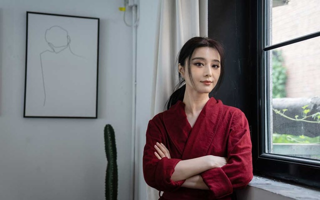 Actress Fan Binbing stands for a portrait in a studio dressing room in Beijing, Jul 28, 2019. Bingbing, who evolved from girl-next-door roles into an international star and fashion celebrity, disappeared for four months last year amid a tax scandal that has tarnished China's entire film industry. The New York Times