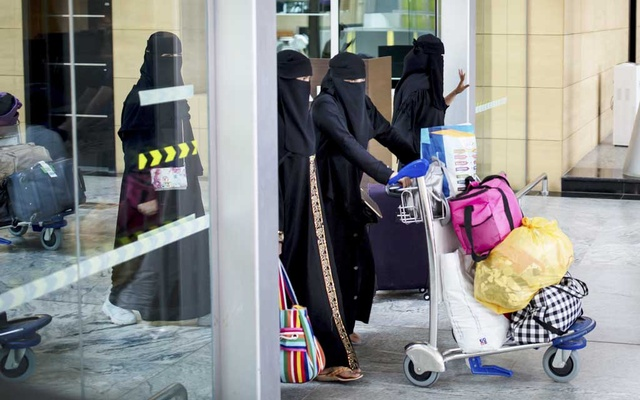 Travelers in the Al Qassim Railway Station in Buraydah, Saudi Arabia on Aug. 2, 2019. Saudi Arabia announced new regulations early Friday that grant all Saudis over the age of 21 – regardless of gender – the right to handle family matters and their own affairs, while officials also said that all adults could obtain passports and travel on their own.