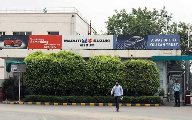 A man walks outside the Maruti Suzuki India Ltd. manufacturing plant in Manesar in the northern state of Haryana, India, August 2, 2019. Reuters