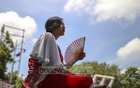 A woman of Chakma community joined the event at Dhaka's Central Shaheed Minar. Photo: Mostafigur Rahman