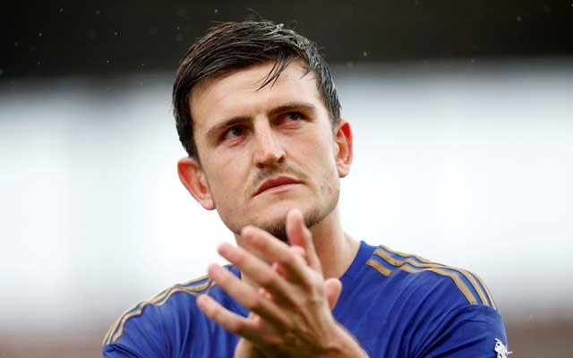 Soccer Football - Pre Season Friendly - Stoke City v Leicester City - bet365 Stadium, Stoke-On-Trent, Britain - July 27, 2019 Leicester City's Harry Maguire applauds fans after the match Action Images via Reuters
