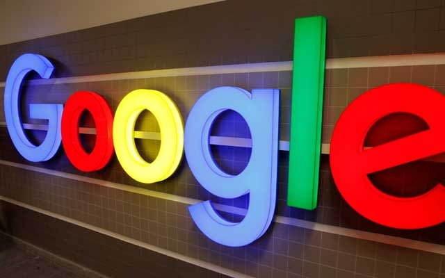 FILE PHOTO: An illuminated Google logo is seen inside an office building in Zurich, Switzerland, December 5, 2018. REUTERS