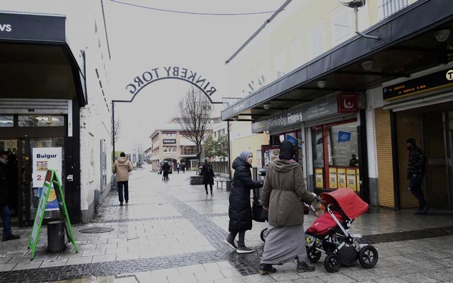 A square where witnesses say Russian journalists tried to bribe immigrant youths into acts of hooliganism for their cameras, in the Rinkeby district of Stockholm, Sweden, Mar 14, 2019. Today, more than 91 percent of Rinkeby's residents are immigrants or their children, but it is hardly the hellscape that nationalists bent on painting Sweden as a failed state hold it out to be. The New York Times