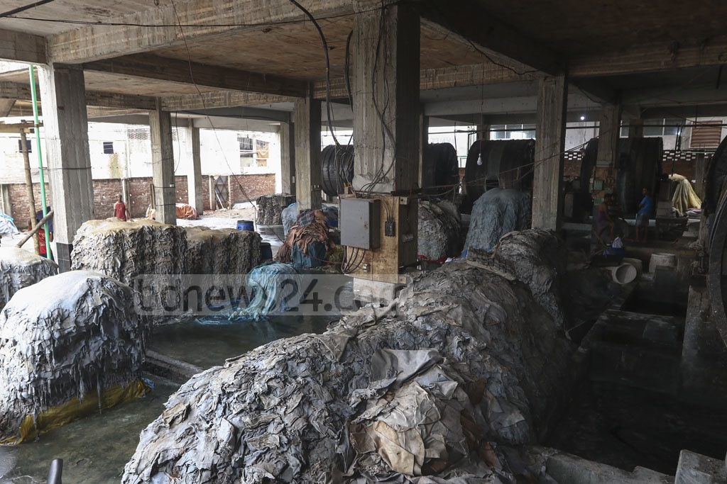 Owners of tanneries in Savar on the outskirts of Dhaka say they are not interested in rawhide of cattle slaughtered on Eid-ul-Azha this year as they are yet to sell those processed from last year. Photo: Mahmud Zaman Ovi