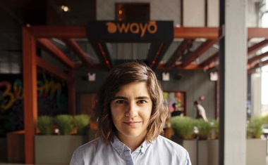 Momofuku chief executive Marguerite Zabar Mariscal, outside the new Bar Wayo, in New York, Aug. 1, 2019. Mariscal, who started as an intern in 2011, is a guiding force with David Chang as they expand a restaurant empire. (Benjamin Norman/The New York Times)