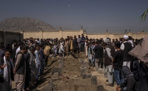 The funeral of about twenty people killed Saturday in a suicide bombing at a wedding in Kabul, Afghanistan, Aug 18, 2019. The New York Times