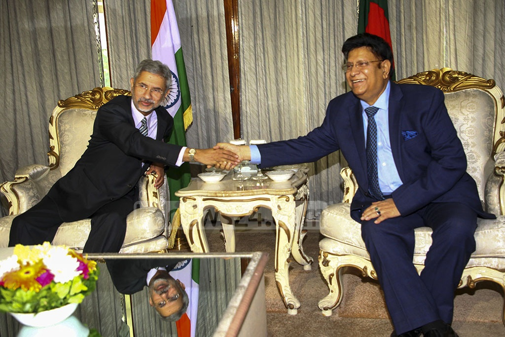 India's External Affairs Minister S Jaishankar held a bilateral meeting with his Bangladesh counterpart AK Abdul Momen at the state guesthouse Jamuna during a two-day visit to Dhaka on Tuesday.