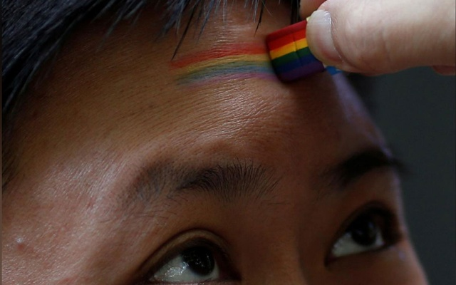 File Photo: : A participant takes part in a Pride Run, an event of the ShanghaiPRIDE LGBT celebration in Shanghai, China Jun 17, 2017. REUTERS