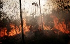 File Photo: A burning tract of Amazon jungle is seen while as it is being cleared by loggers and farmers in Porto Velho, Brazil Aug 23, 2019. REUTERS