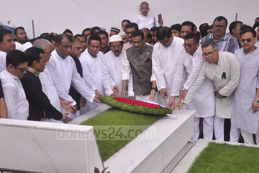 The Awami League and different other organisations pay respects to Ivy Rahman, the Mohila Awami League chief who died from injuries in the Aug 4 2004 grenade attack, by placing wreaths on her grave at Banani in Dhaka on her 15th death anniversary on Saturday.