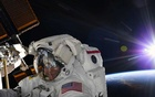 A photo provided by NASA shows astronaut Anne McClain during a spacewalk at the International Space Station on Mar 22, 2019. NASA is examining a claim that McClain improperly accessed the bank account of her estranged spouse from the Space Station. The New York Times