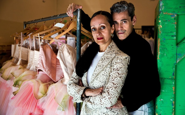 Isabel Toledo, the Cuban-American fashion designer, at her office in New York, May 21, 2014. Toledo, who was revered by other designers for her ability to combine precisely geometric construction with extreme grace, but who was known to most of the public as the designer of the dress Michelle Obama wore in the 2009 inaugural parade, died on Monday, Aug 26, 2019, at a hospital in Manhattan. She was 59. The New York Times