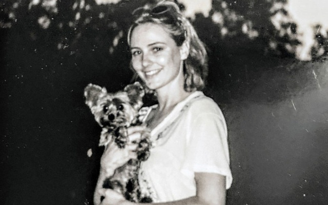 Maria Farmer at Jeffrey Epstein's estate in Ohio in 1996, in a photo provided by her representative. The New York Times