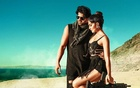 "Prabhas, the hero of ""Saaho,"" with Jacqueline Fernandez.  The New York Times"