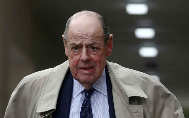 FILE PHOTO: Conservative Member of Parliament Nicholas Soames walks in Westminster, in London, Britain September 3, 2019. REUTERS
