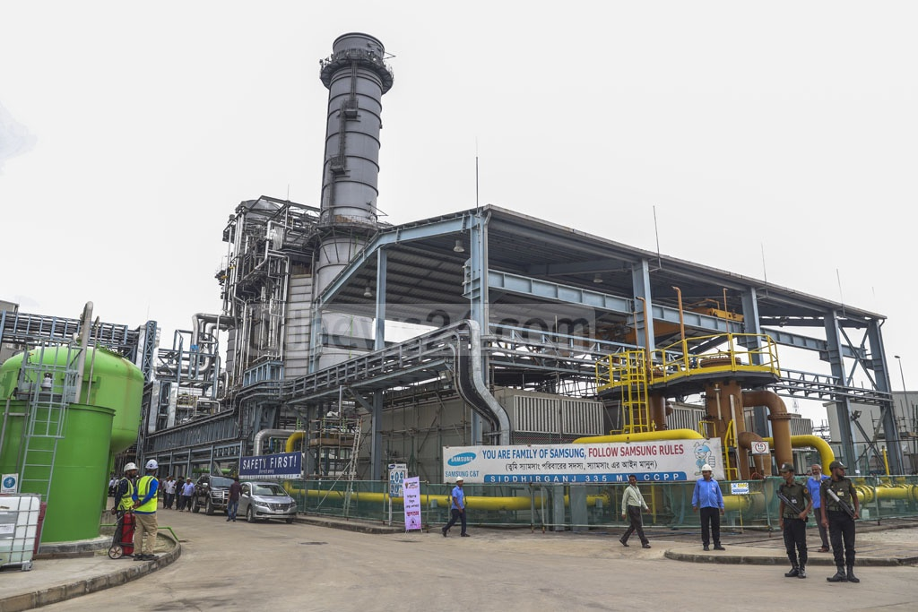 A view of the 335-megawatt combined cycle power plant in Siddhirganj, Narayanganj. Photo: Abdullah Al Momin