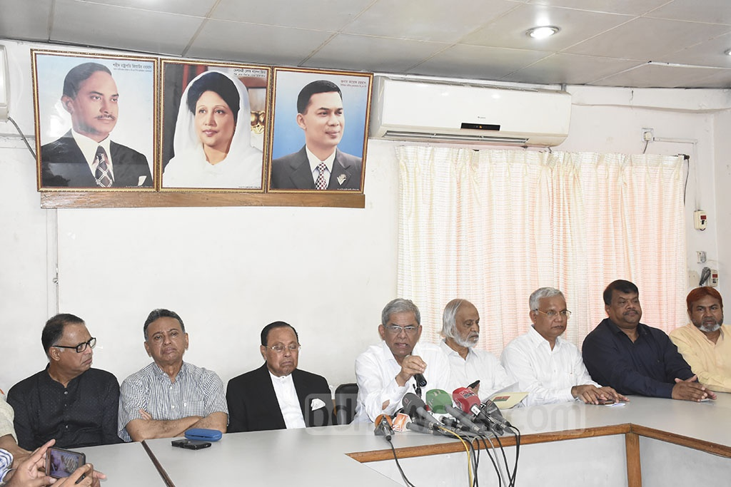 BNP Secretary General Mirza Fakhrul Islam Alamgir addresses Khaleda Zia's health and treatment at a media briefing at the party headquarters in the capital's Naya Paltan on Sunday.