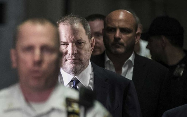 """Caption: File Photo: Harvey Weinstein arrives at a courthouse in New York, Jun 5, 2018. """"She Said,"""" by The New York Times reporters Jodi Kantor and Megan Twohey, names some of the people who turned against the influential producer, as well as ones who helped cover up his alleged predation. The New York Times"""