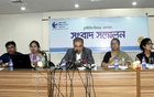TIB Executive Director Iftekharuzzaman speaks during the launch of a report titled 'Ways to overcome obstacles for good governance in registration and services sector of land documents' at the MIDAS Centre in Dhaka on Monday.
