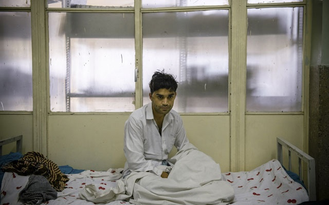 Abdul Sami, who was wounded in a Taliban suicide bombing that killed an American soldier, in a hospital in Kabul, Afghanistan, Sep 9, 2019. What jarred many Afghans was how a single attack and the death of one American, cited by President Trump, could have upended 10 months of negotiations with the Taliban. The New York Times