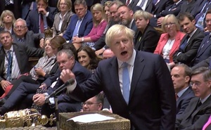 Britain's Prime Minister Boris Johnson speaks after Britain's parliament voted on whether to hold an early general election, in Parliament in London, Britain, September 10, 2019, in this still image taken from Parliament TV footage. Parliament TV via REUTERS