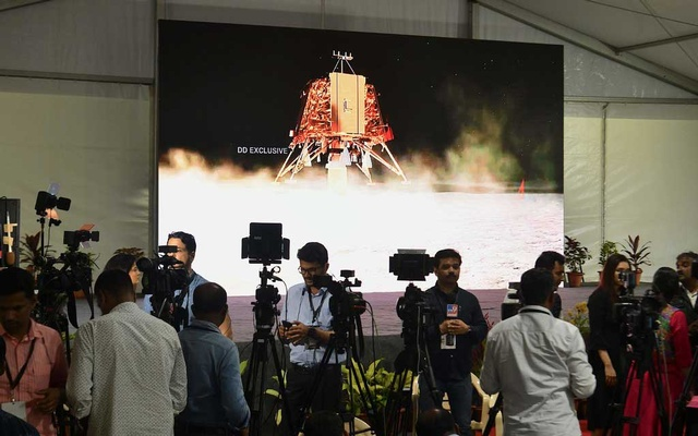 Members of India's news media — and the rest of the world — waited on Saturday for news of the progress of the Vikram moon lander, which lost contact with Earth. The New York Times