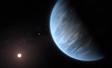 Artist's impression of the planet K2-18b, its host star and an accompanying planet in this system. Photograph: ESA/Hubble, M. Kornmesser