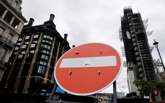 A no entry sign is seen near the Houses of Parliament in London A no entry sign is seen near the Houses of Parliament in London, Britain September 11, 2019. REUTERS
