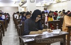 Candidates taking the 'Ga' unit exam for admission to Dhaka University's Faculty of Business Education on Friday. Photo: Mahmud Zaman Ovi