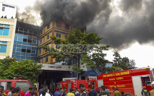An electronics factory of Minister Hi-Tech Park Ltd, a sister concern of MyOne Electronics, in Gazipur's Dhirasram caught fire on Friday morning. The fire was brought under control after four hours.
