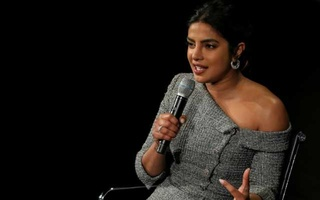 FILE PHOTO: Actor and UNICEF Goodwill Ambassador Priyanka Chopra Jonas, speaks on stage at the Women In The World Summit in New York, US, Apr 11, 2019. REUTERS