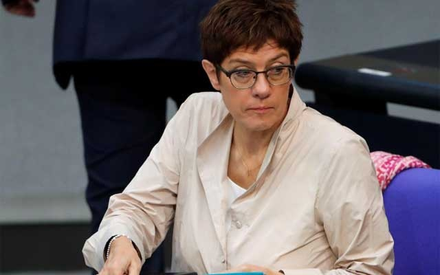 German Defence Minister Annegret Kramp-Karrenbauer attends a budget session at the lower house of parliament (Bundestag) in Berlin, Germany, Sep 10, 2019. REUTERS