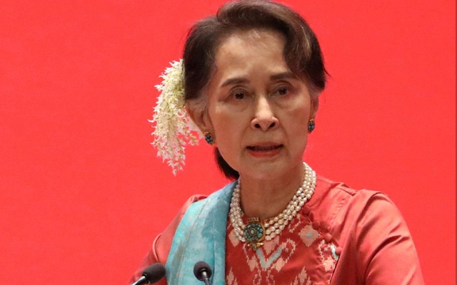 Caption: Myanmar's State Counsellor Aung San Suu Kyi attends Invest Myanmar in Naypidaw, Myanmar, Jan 28, 2019. REUTERS