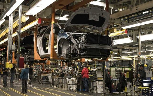 FILE PHOTO: A Buick on the assembly line at the General Motors Lansing Delta assembly plant in Lansing, Mich, Mar 5, 2018. The United Automobile Workers said Sunday, Sep 15, 2019, that it planned to go on strike at General Motors at midnight after the two sides could not reach an agreement on a new labour contract. The New York Times