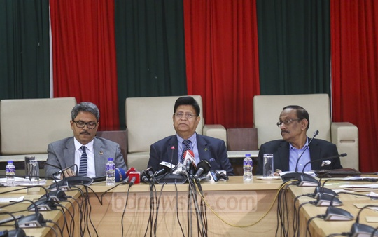 Foreign Minister AK Abdul Momen on Wednesday briefs reporters on Prime Minister Sheikh Hasina's visit to New York to join the UN General Assembly. Photo: Mahmud Zaman Ovi