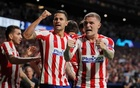 Champions League - Group D - Atletico Madrid v Juventus - Wanda Metropolitano, Madrid, Spain - September 18, 2019 Atletico Madrid's Kieran Trippier celebrates after teammate Hector Herrera scores their second goal REUTERS