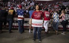 Yolanda Castro at a rally for President Donald Trump in Rio Rancho, NM, Sept 16, 2019. The New York Times.